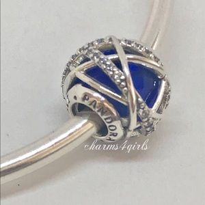 Authentic Pandora galaxy royal blue crystal clear